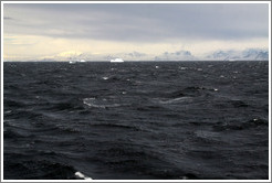 "Crossing the Antarctic Circle at -66� 33' 7.05"", -67� 9' 7.94""."