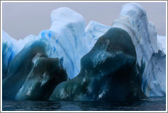 Deep blue Iceberg, Bransfield Strait between Antarctic Peninsula and South Shetland Islands.