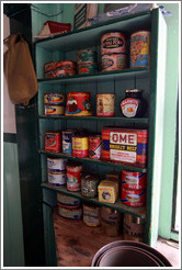 Old containers of food, kitchen, Port Lockroy.