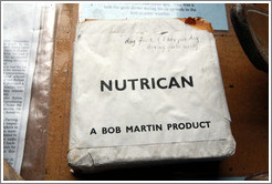 """Nutrican"", sledging rations for dogs."