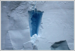 Iceberg with blue indentation.