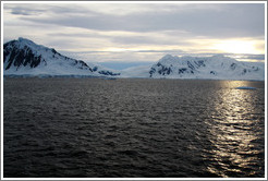 The Gullet, a narrow passage between Adelaide Island and the Antarctic mainland.