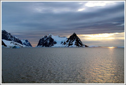Entrance to Lemaire Channel, a strait  between Booth Island and the Antarctic mainland.