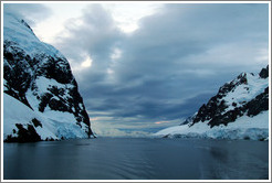 Lemaire Channel, a strait  between Booth Island and the Antarctic mainland.