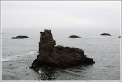 Rocks emerging from the ocean near Livingston Island.