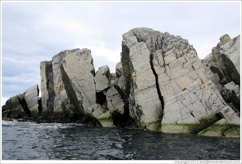 Granite rocks forming the Melchior Islands.