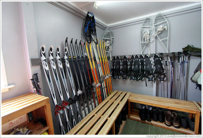 Skis and snow shoes, Vernadsky Station.
