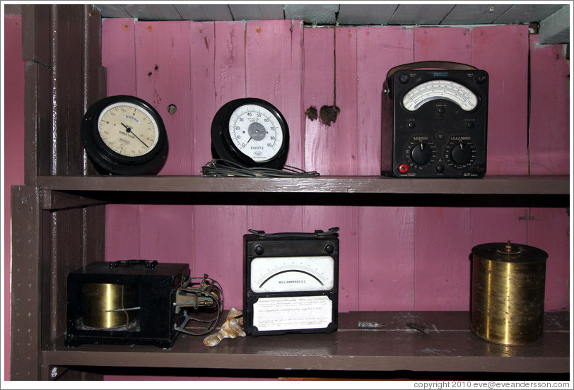 Instruments, Wordie House, a British scientific research station dating from 1947.