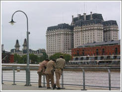 Three policemen at Puerdo Madero.