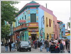 Caminito Tango in La Boca neighborhood.