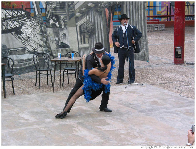 Tango street performers in La Boca neighborhood.