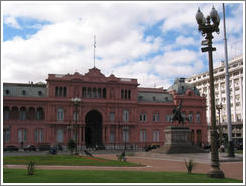 "La Casa Rosada (the ""Pink House"" -- equivalent to the White House)."
