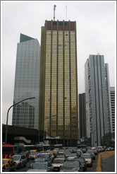 Gold building in the Centro district.