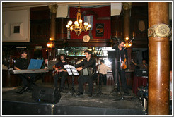 Musicians at a milonga at the Confitería Ideal.