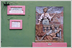 La canci�n, by Julio Vergottini. El Caminito, La Boca.