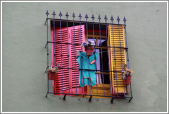 Window. El Caminito, La Boca.