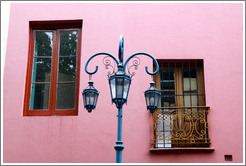 Windows and a street lamp. El Caminito, La Boca.