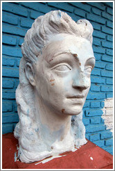 Sculpture of a woman, probably Evita. Gral. Gregorio Ar�oz de Lamadrid, La Boca.