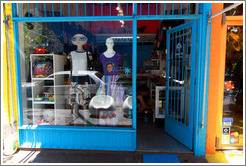 Store with interesting mannequins, Calle Jorge Luis Borges near Calle Soler, Palermo Viejo district.
