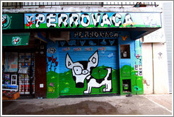 Perrovaca (Dog-cow), Calle Serrano near Plaza Serrano (Plaza Cort?r), Palermo Viejo district.