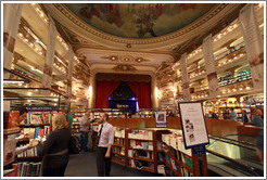 Ateneo, a bookstore housed in a former theatre.  Avenida Santa Fe branch. Recoleta.