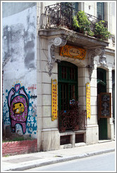Graffiti, Abuela Pan, Avenida Bol�var, San Telmo district.