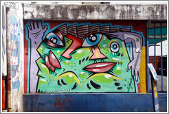 Graffiti, Avenida Bol�var, San Telmo district.