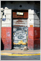 Graffiti (robot?), Calle Chile and Calle Per�, San Telmo district.