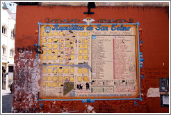 Rep�blica de San Telmo map, Calle Defensa, San Telmo district.