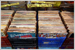 Vinyl records for sale, Mercado de San Telmo, San Telmo district.