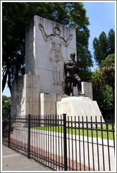 Statue commemorating don Pedro of Mendoza, founder of Buenos Aires, Parque Lezama, San Telmo District.
