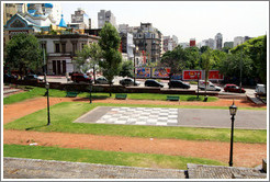 Chess board at human scale, Parque Lezama, San Telmo District.
