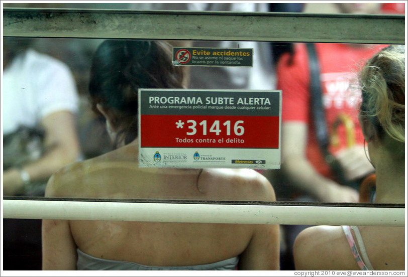 31416, the number to dial for Subte (Buenos Aires subway) alerts.