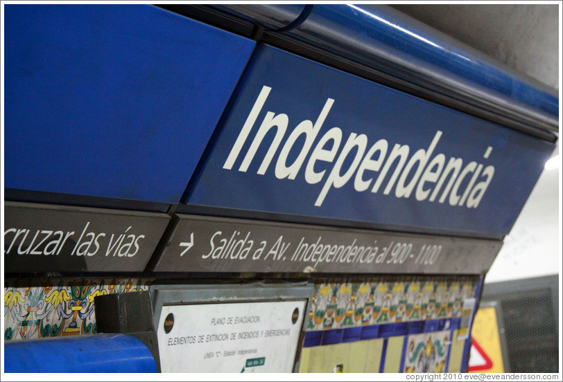 Independencia station, Subte (Buenos Aires subway).