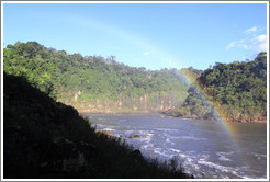 Rainbow over the Iguazu Rier, seen from the Circuito Inferior.