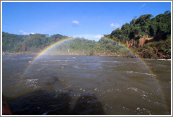 Rainbow over the Iguazu River.