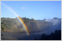 Rainbow over Iguazu Falls, viewed from Circuito Inferior.