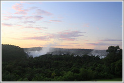 Iguazu Falls at dawn, viewed from the Sheraton Hotel.