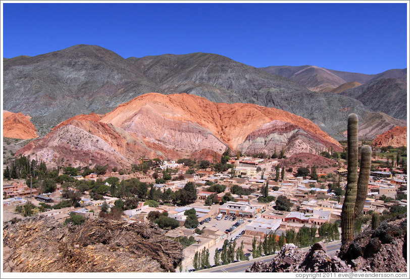 Cerro de Siete Colores (Seven Colored Hill), behind the town of Purmamarca.