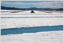 Water channels, Salinas Grandes salt basin.