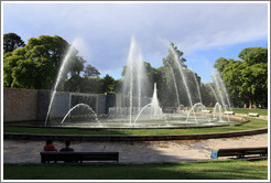Fountain, Plaza Independencia, city of Mendoza.