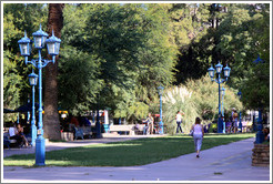 Plaza Independencia, city of Mendoza.