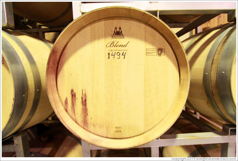 "Barrel labeled ""Blend Limited Edition 1494"", Lagarde, Luj?de Cujo."