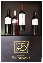 Display of wines, Roberto Bonfanti, Luj�n de Cujo.