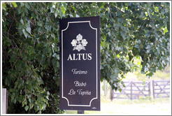 Sign, Bodega Altus, Valle de Uco.