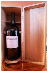 Bottle of 2007 Don David Malbec. Bodega El Esteco.
