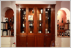 Tasting room display case. Bodega El Esteco.