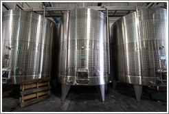 Steel tanks. Bodegas Etchart.
