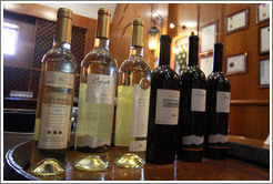Bottles in the tasting room. Bodegas Etchart.