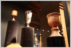 Chalices. Museo de la Vid y el Vino (Museum of Vine and Wine).